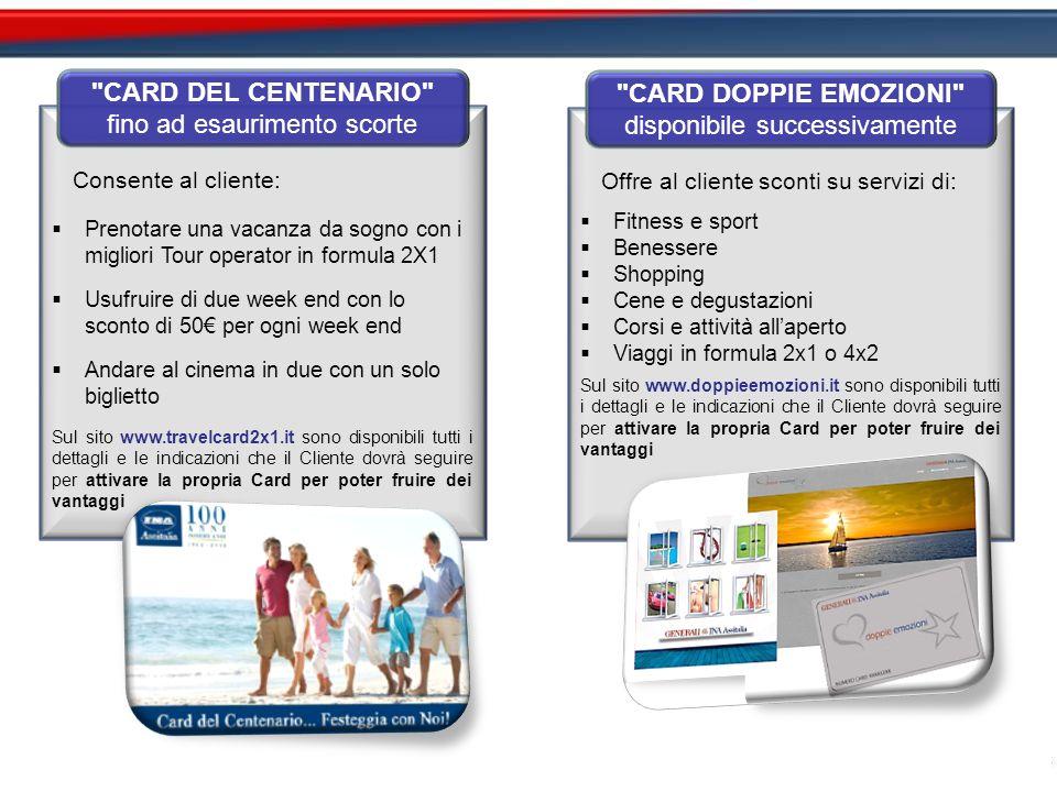 Consente al cliente:  Prenotare una vacanza da sogno con i migliori Tour operator in formula 2X1  Usufruire di due week end con lo sconto di 50€ per