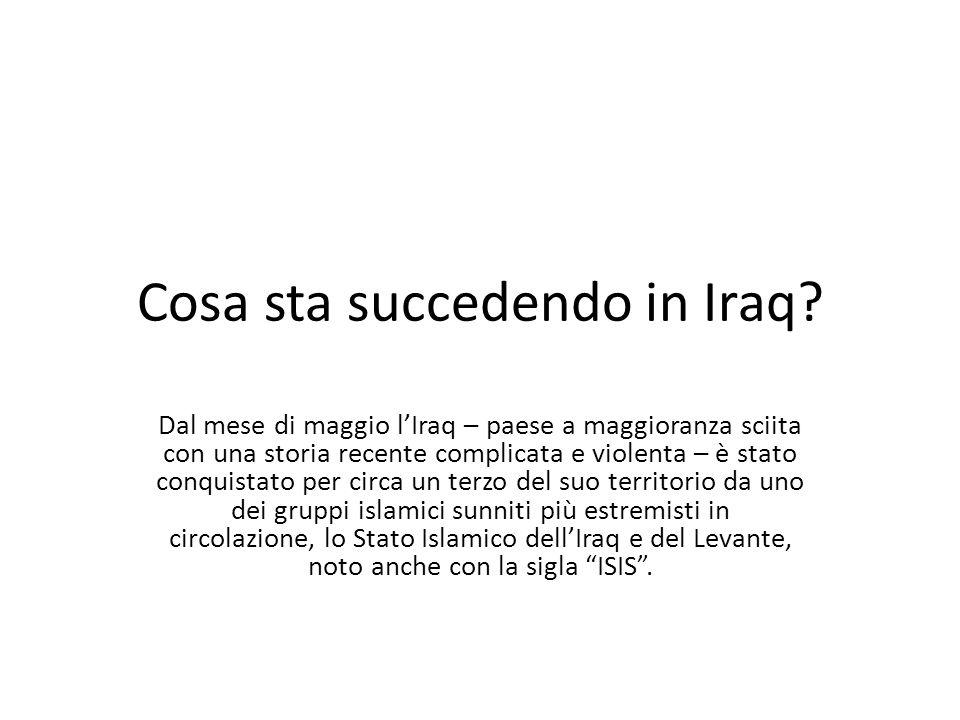 Cosa sta succedendo in Iraq? Dal mese di maggio l'Iraq – paese a maggioranza sciita con una storia recente complicata e violenta – è stato conquistato