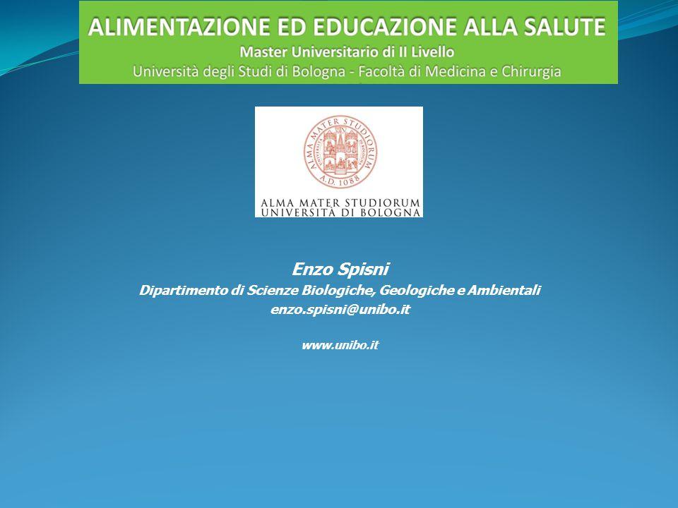 Enzo Spisni Dipartimento di Scienze Biologiche, Geologiche e Ambientali enzo.spisni@unibo.it www.unibo.it