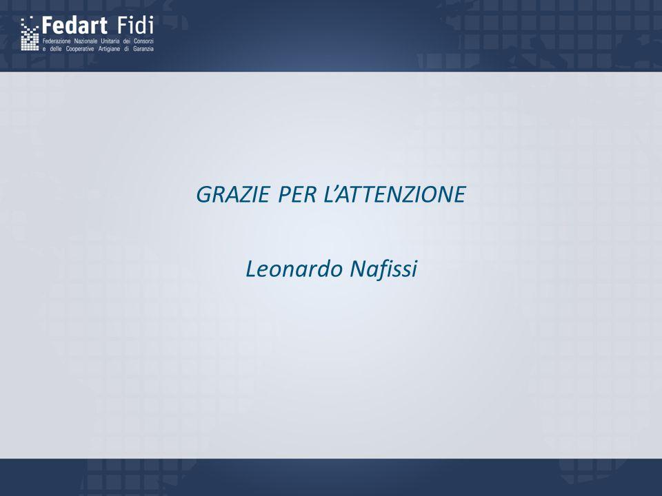 GRAZIE PER L'ATTENZIONE Leonardo Nafissi