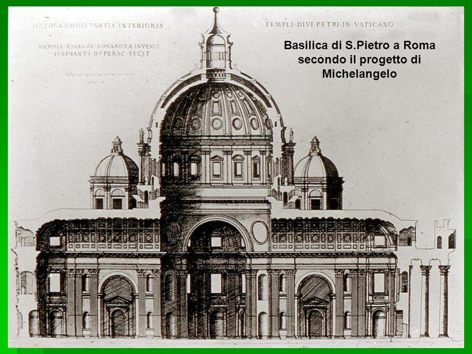 Basilica di S.Pietro a Roma secondo il progetto di Michelangelo