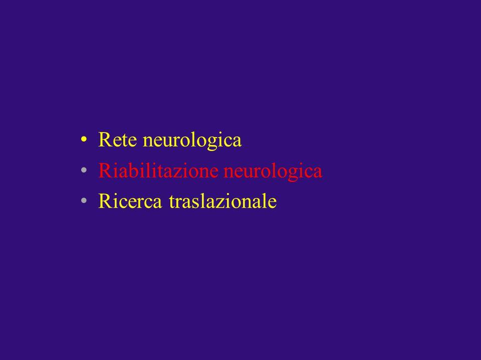 Rete neurologica Riabilitazione neurologica Ricerca traslazionale