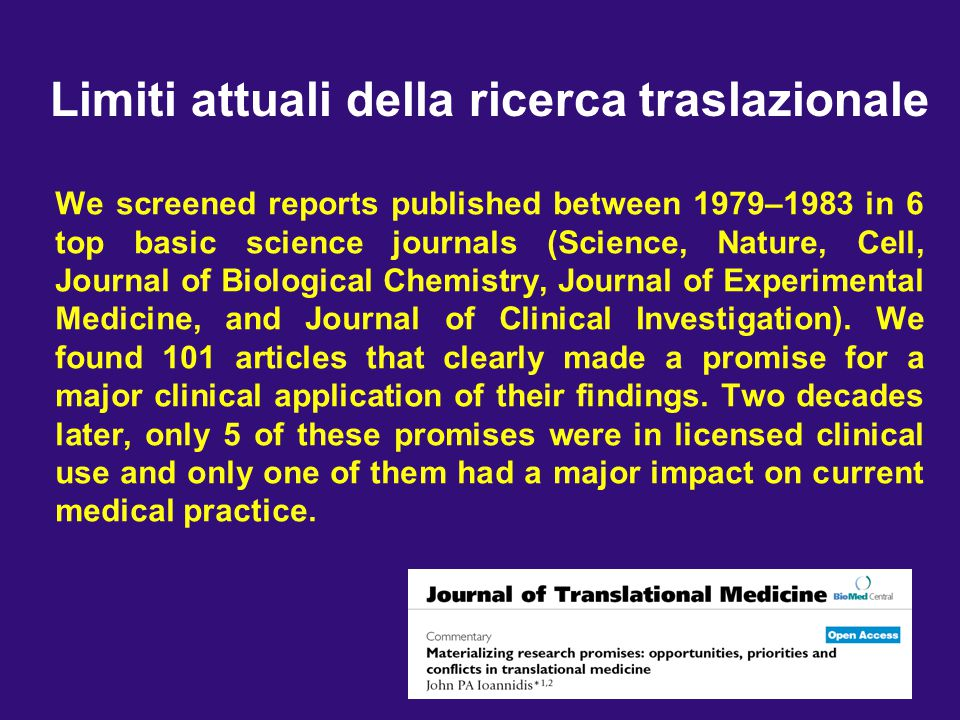 We screened reports published between 1979–1983 in 6 top basic science journals (Science, Nature, Cell, Journal of Biological Chemistry, Journal of Ex
