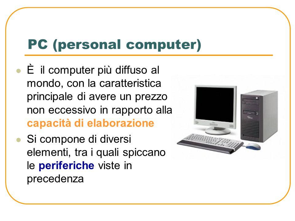 Laptop o notebook Sono computer portatili ma non tascabili Hanno la dimensione di una valigetta Il prezzo elevato è determinato dai componenti elettronici miniaturizzati che lo compongono.