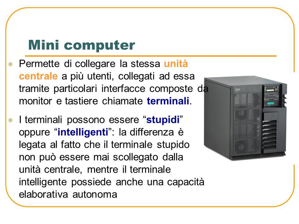 PC (personal computer) È il computer più diffuso al mondo, con la caratteristica principale di avere un prezzo non eccessivo in rapporto alla capacità di elaborazione Si compone di diversi elementi, tra i quali spiccano le periferiche viste in precedenza