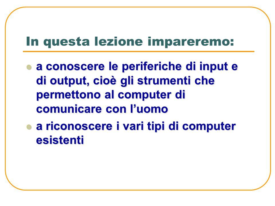MODULO 01 Unità didattica 03 Conosciamo i tipi di computer e le periferiche