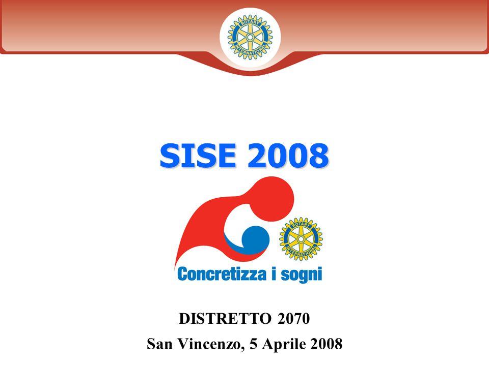 Diapositiva 1 Distretto XXXX SISE 2008 DISTRETTO 2070 San Vincenzo, 5 Aprile 2008