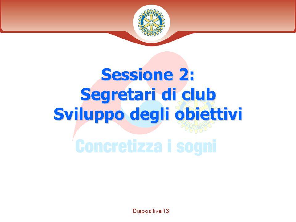 Diapositiva 13 Distretto XXXX Sessione 2: Segretari di club Sviluppo degli obiettivi