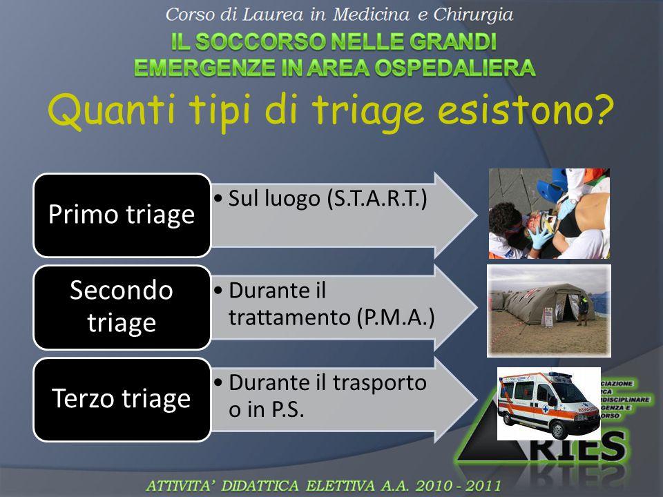 Quanti tipi di triage esistono.