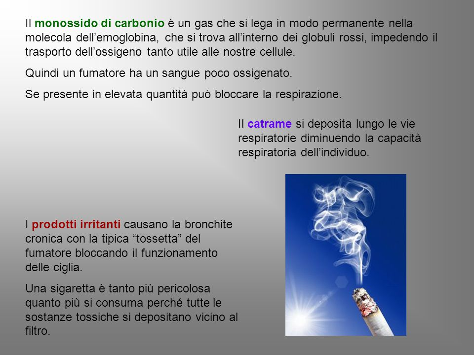 Poiché il consumo di tabacco non è una malattia ma è un comportamento è un dovere cercare di eliminarlo adottando comportamenti sani e corretti.