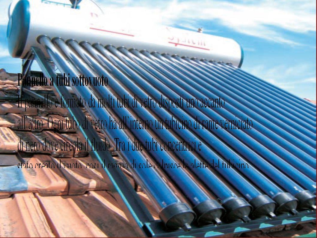 Solare termodinamico Questa centrale elettrica è una piattaforma coperta da migliaia di specchi parabolici disposti per file parallele su strutture fisse.