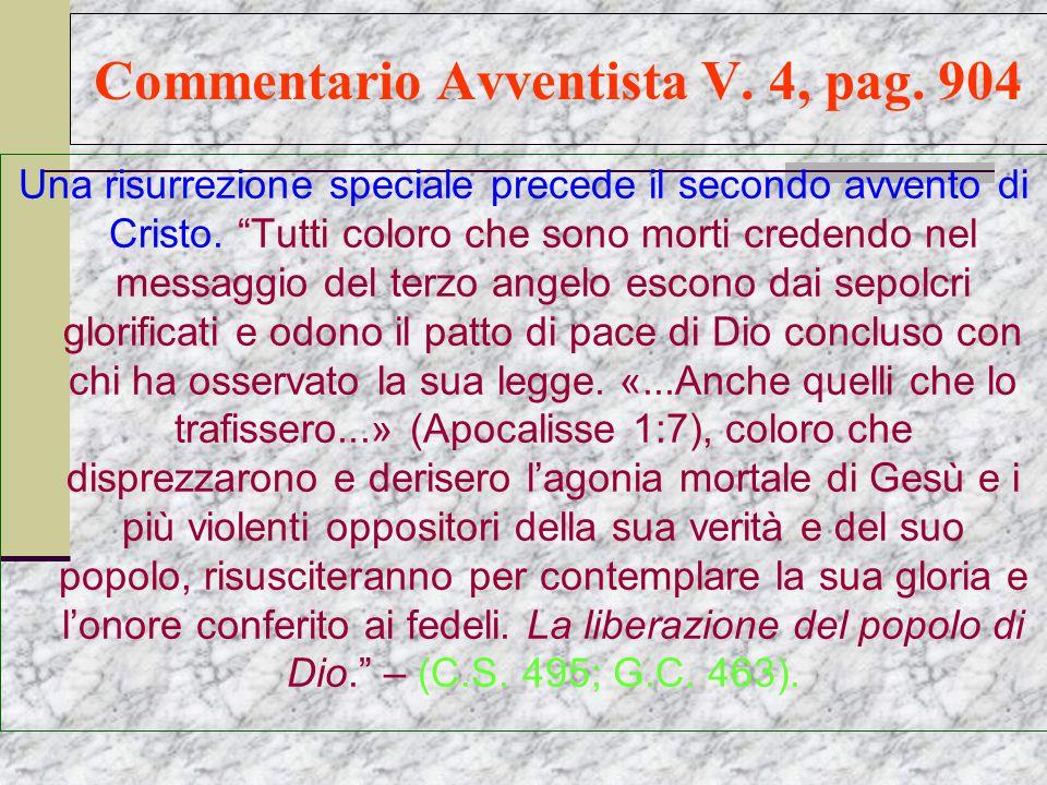 Commentario Avventista V.4, pag.