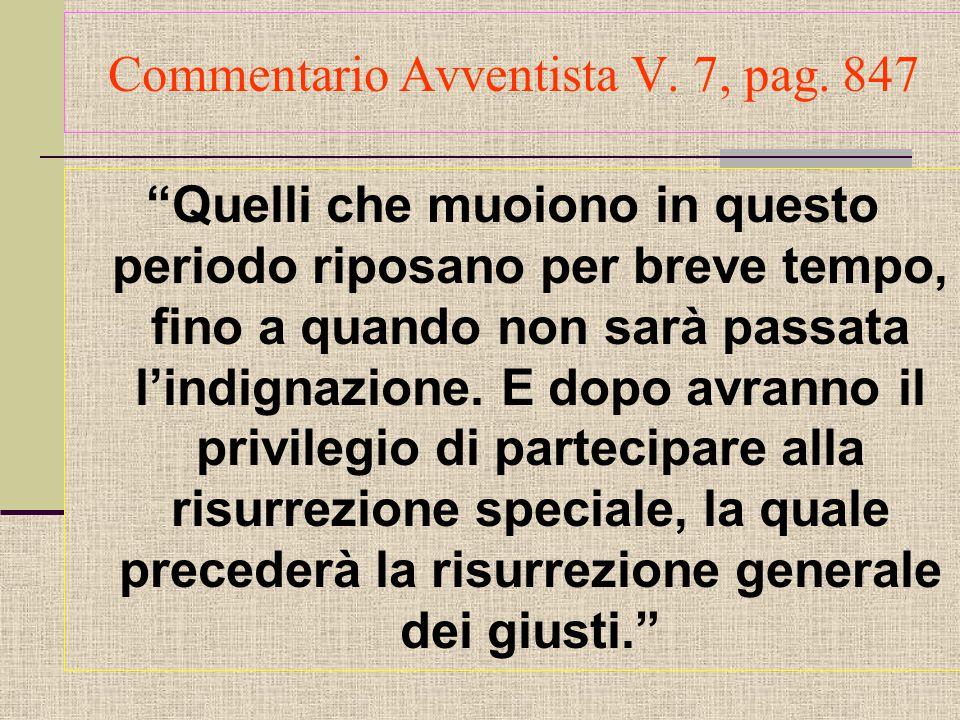 Commentario Avventista V.7, pag.