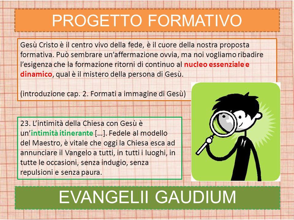 PROGETTO FORMATIVO Gesù Cristo è il centro vivo della fede, è il cuore della nostra proposta formativa.