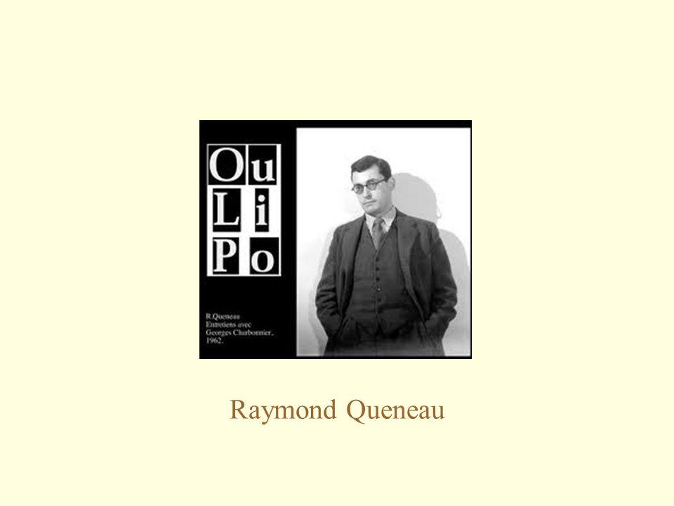 Raymond Queneau (1903-1976) Italo Calvino, La filosofia di Raymond Queneau (1981): Si chiede «chi è Raymond Queneau?»: «Di primo acchito la domanda può sembrare strana, perché l'immagine dello scrittore appare ben netta a chiunque abbia qualche familiarità con la letteratura del nostro secolo e con quella francese in particolare.
