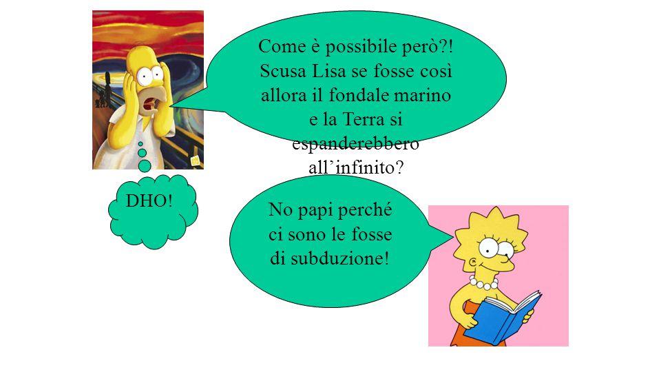 Come è possibile però?! Scusa Lisa se fosse così allora il fondale marino e la Terra si espanderebbero all'infinito? No papi perché ci sono le fosse d