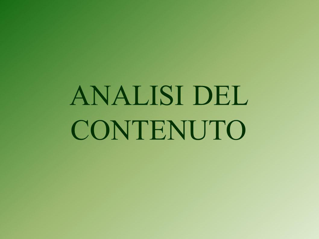 ANALISI DEL CONTENUTO
