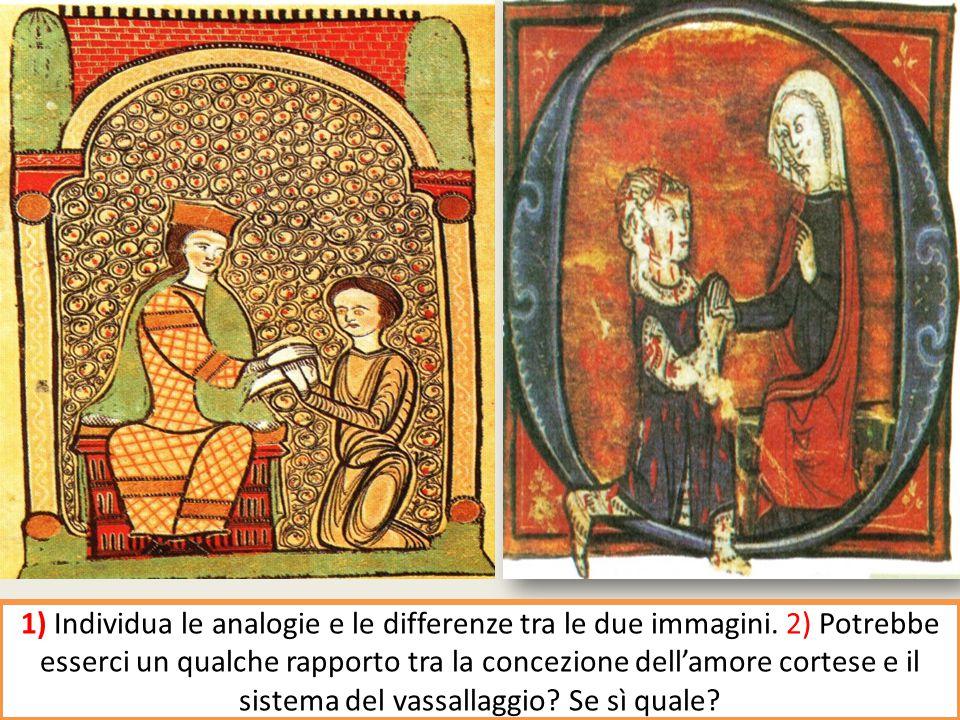 1) Individua le analogie e le differenze tra le due immagini.