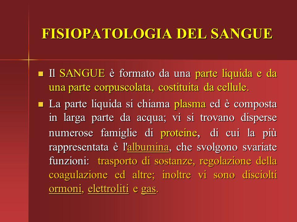 Il SANGUE è formato da una parte liquida e da una parte corpuscolata, costituita da cellule. Il SANGUE è formato da una parte liquida e da una parte c