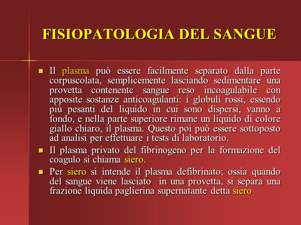 PIASTRINE Le piastrine concorrono nel processo di coagulazione del sangue.