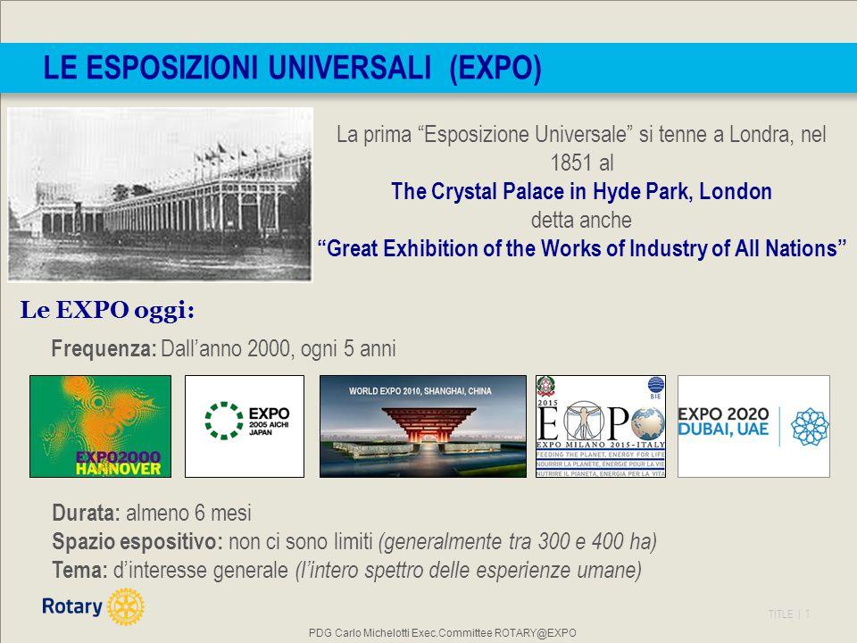 TITLE | 2 L'Expo è situata in un'area a nord-ovest di Milano, su parte del territorio di Rho e di Pero, con una superficie di 1,7 mil.
