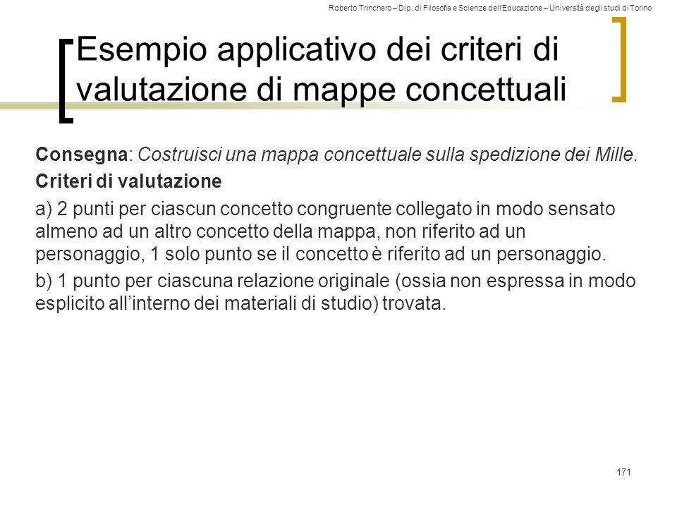 Roberto Trinchero – Dip. di Filosofia e Scienze dell'Educazione – Università degli studi di Torino Esempio applicativo dei criteri di valutazione di m