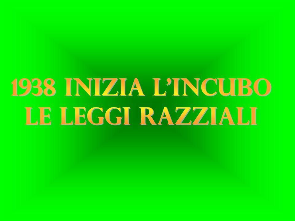 IN ITALIA LE LEGGI RAZZIALI ENTRARONO IN VIGORE CON IL DOCUMENTO IL FASCISMO E I PROBLEMI DELLA RAZZA DEL 14 LUGLIO 1938.