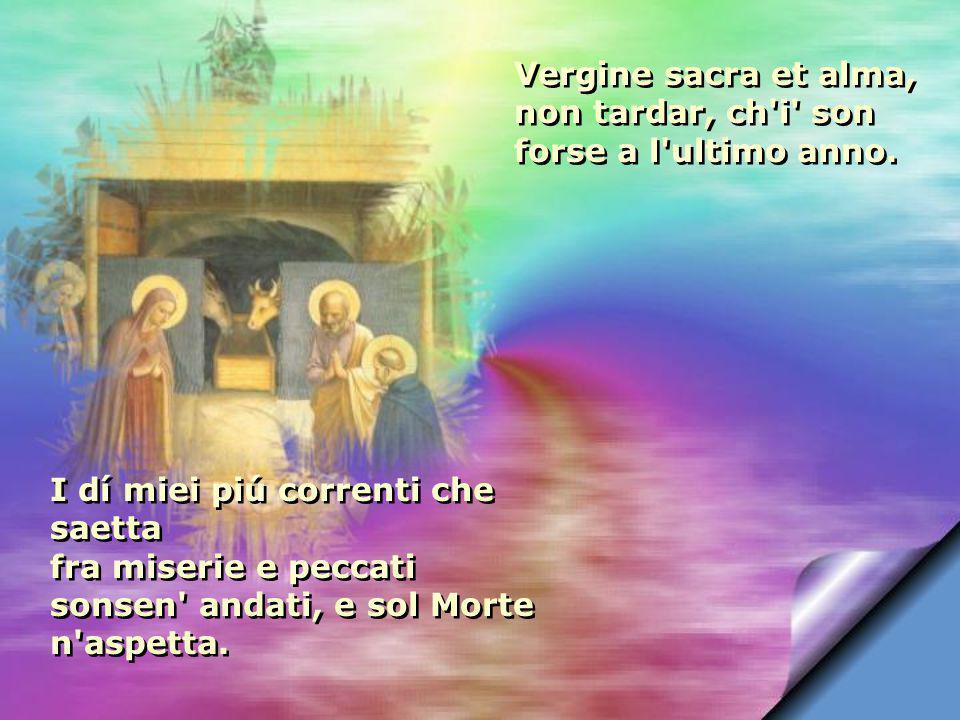 Da poi ch i nacqui in su la riva d Arno, cercando or questa et or quel altra parte, non è stata mia vita altro ch affanno.
