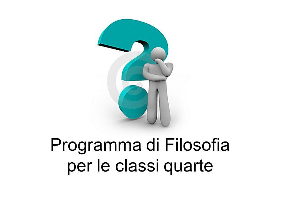 Programma di Filosofia per le classi quarte