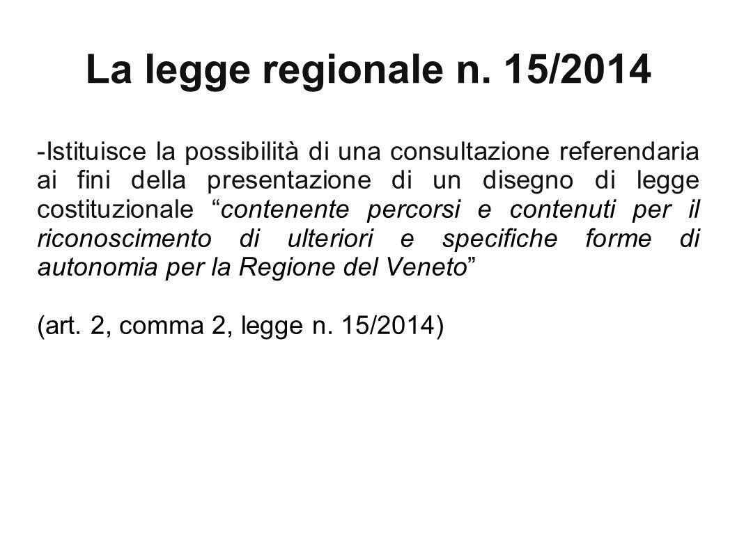 La legge regionale n.15/2014 -prevede, all'art.