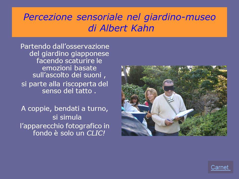 Percezione sensoriale nel giardino-museo di Albert Kahn Partendo dall'osservazione del giardino giapponese facendo scaturire le emozioni basate sull'a