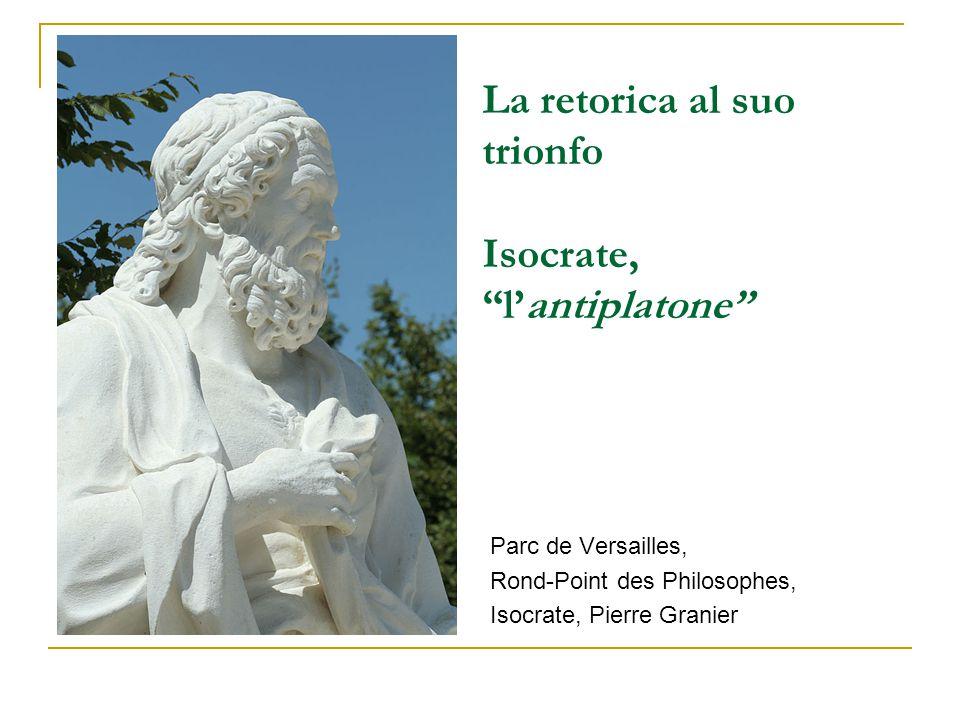 """La retorica al suo trionfo Isocrate, """"l'antiplatone"""" Parc de Versailles, Rond-Point des Philosophes, Isocrate, Pierre Granier"""