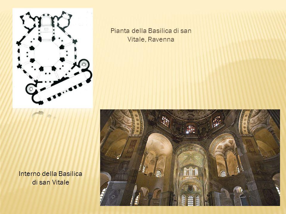 Pianta della Basilica di san Vitale, Ravenna Interno della Basilica di san Vitale