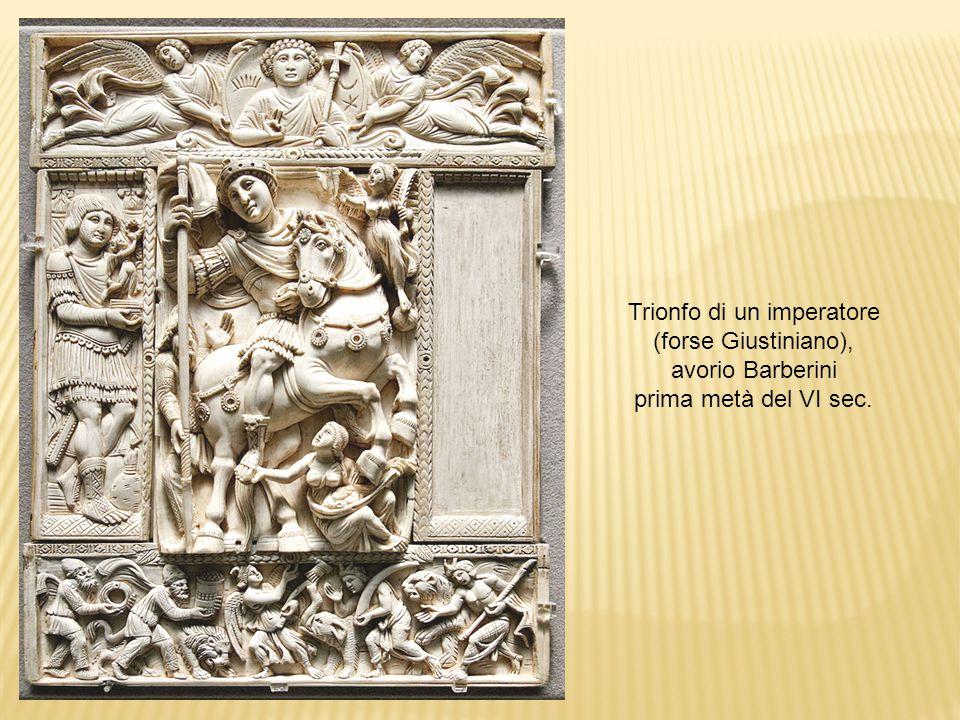 Trionfo di un imperatore (forse Giustiniano), avorio Barberini prima metà del VI sec.