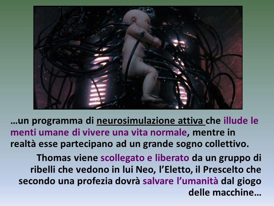 …un programma di neurosimulazione attiva che illude le menti umane di vivere una vita normale, mentre in realtà esse partecipano ad un grande sogno co