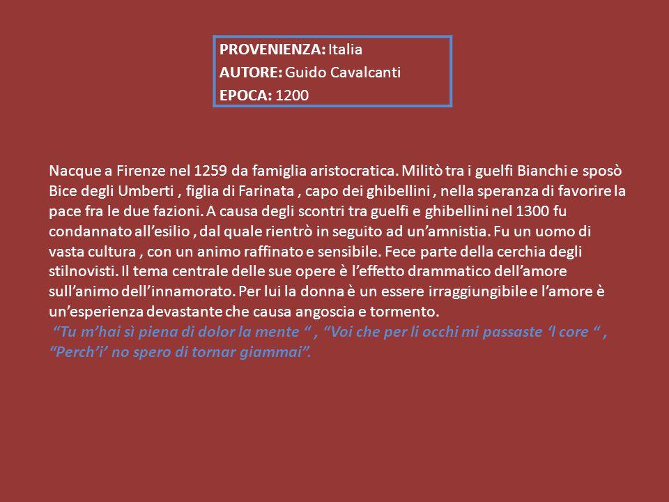 Nacque a Firenze nel 1259 da famiglia aristocratica.