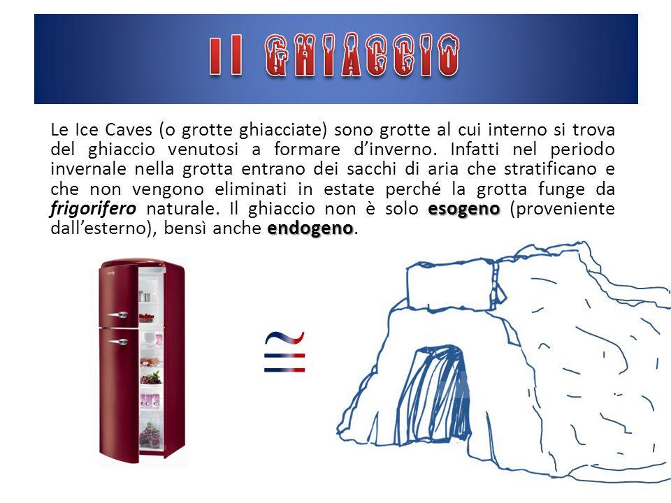 esogeno endogeno Le Ice Caves (o grotte ghiacciate) sono grotte al cui interno si trova del ghiaccio venutosi a formare d'inverno.