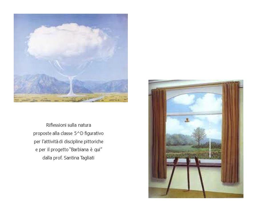 Riflessioni sulla natura proposte alla classe 5^D figurativo per l'attività di discipline pittoriche e per il progetto Barbiana è qui dalla prof.