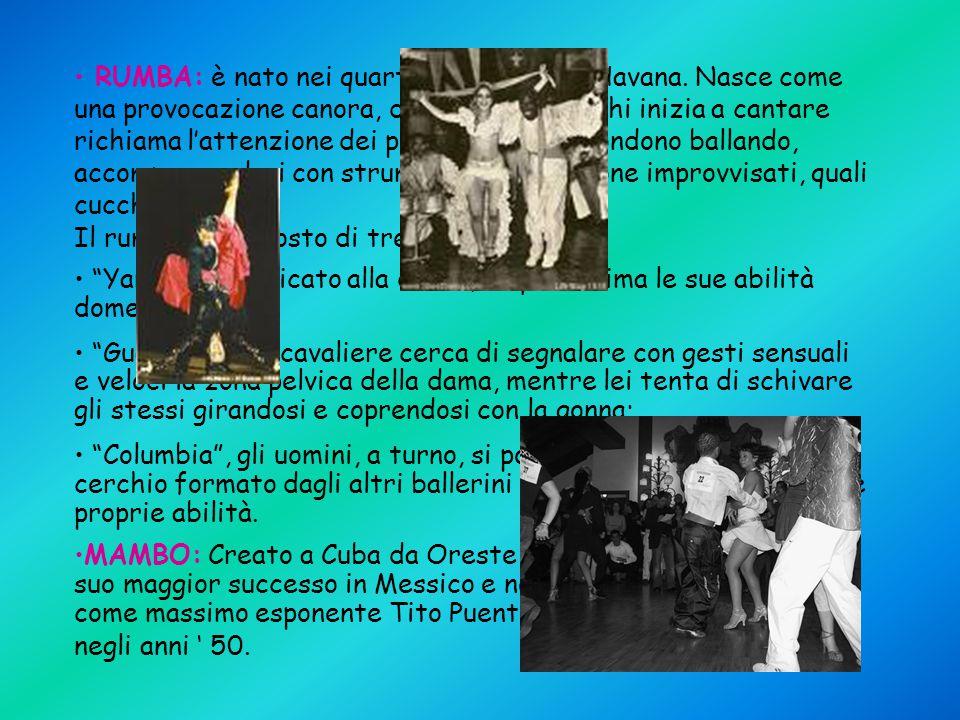 SITOGRAFIA www.leocuba.com/Musica/Musica.html www.gabrylandia.com/SalsaNET/LaStoriaDeiBalli.html www.filosofiaedintorni.net/cuba.htm it.wikipedia.org/wiki/Cuba#Storia www.portobahia.it www.deliriosalsero.it www.nettunodanze.it www.expactlic.com www.ladyangela.it www.meetinglatino.it Documenti del professore Saccani