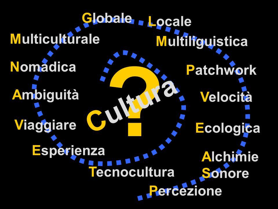 Cultura Velocità Nomadica Ambiguità Esperienza Tecnocultura Percezione Ecologica Multiculturale Patchwork Alchimie Sonore Viaggiare Globale Locale Multiliguistica