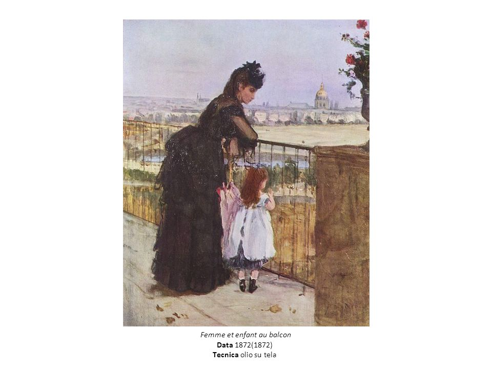 Titolo França Femme et enfant au balcon Data 1872(1872) Tecnica olio su tela
