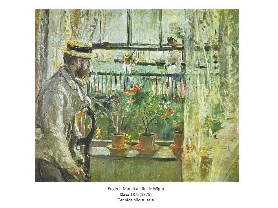 T Eugène Manet à l Ile de Wight Data 1875(1875) Tecnica olio su tela