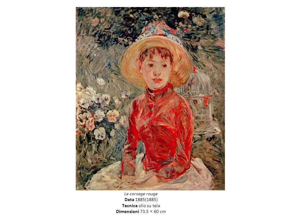 Le corsage rouge Data 1885(1885) Tecnica olio su tela Dimensioni 73.5 × 60 cm