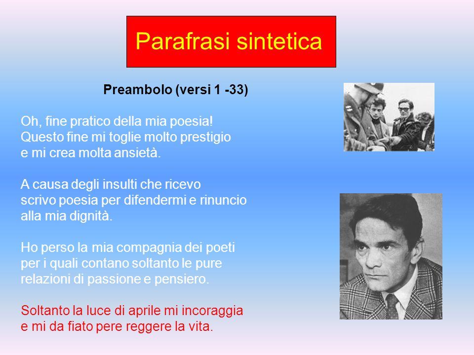 Sintesi schematica III II Parte 10) IX tema: versi 259 – 271; Descrizione dell'Italia che dà soltanto servi e scene espressionistiche 11) X tema: vers