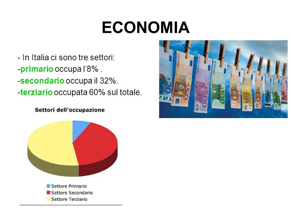SETTORE PRIMARIO - Il settore primario si basa: -Agricoltura -Allevamento -Pesca -Caccia -Colture ( tradizionali e biologiche ) Oltre all'allevamento svolge delle trasformazioni non industriali di alcuni prodotti come formaggi, salami e pesce.