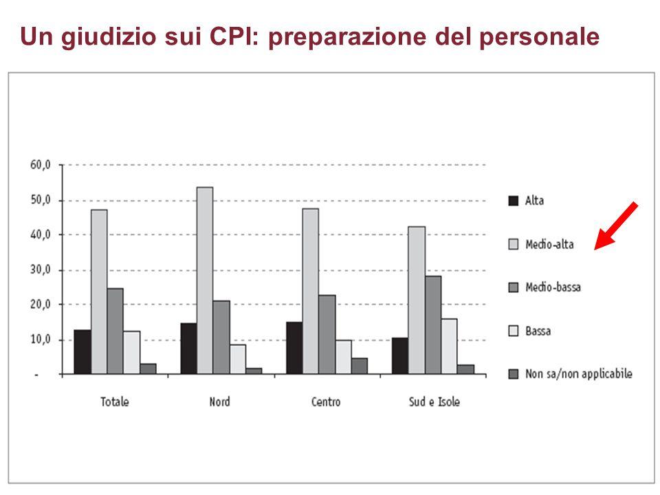 Un giudizio sui CPI: preparazione del personale