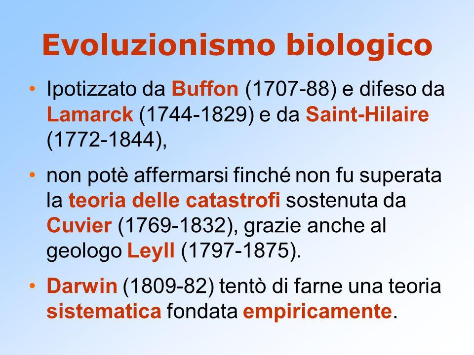 L'origine delle specie (1859) Caposaldi della teoria darwiniana:  Esitono variazioni organiche ereditabili.