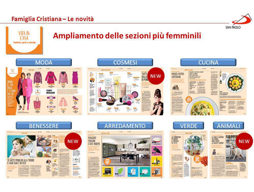 Benessere Gennaio 2013 Famiglia Cristiana – Le novità LINEE GUIDA Un nuova grafica più accattivante e moderna
