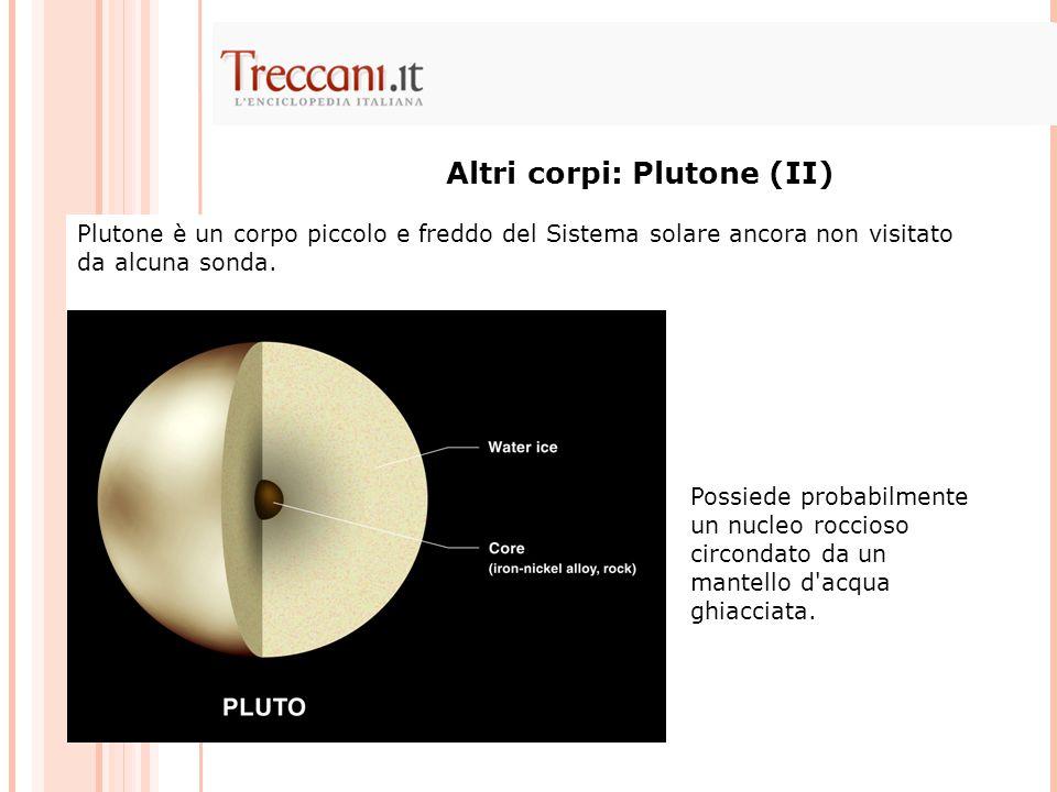 Altri corpi: Plutone (II) Plutone è un corpo piccolo e freddo del Sistema solare ancora non visitato da alcuna sonda.