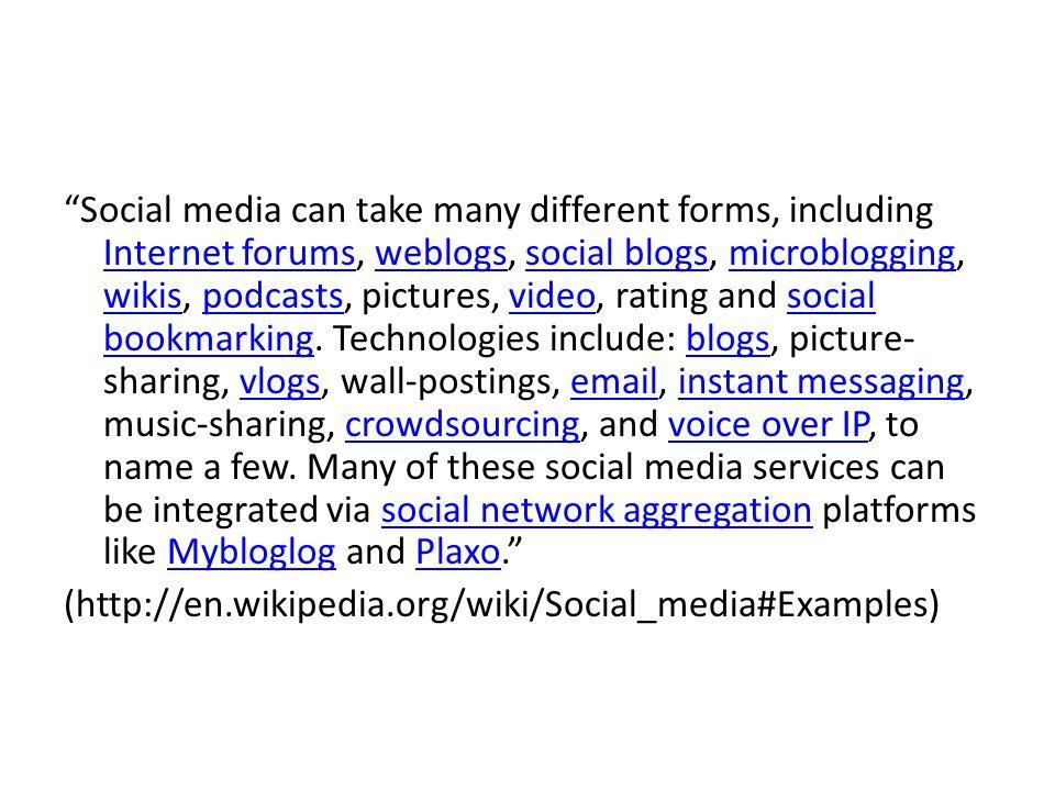 Media industriali e Social Media I parametri che aiutano a descrivere le differenze tra i due tipi di media variano a seconda del tipo di analisi.